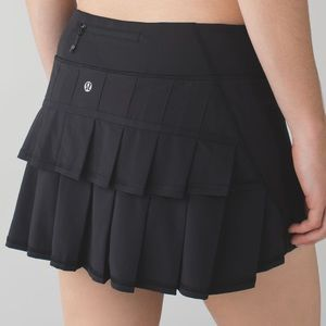 Lululemon Pace Setter Skirt Black Ruffles Mini 2